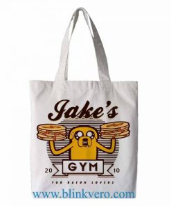Adventure Time See Bacon Lovers Gym tote bag. Fashion bag featuring cartoon illustrations. 100% cotton shopping bag. Cotton tote bag.by blinkvero