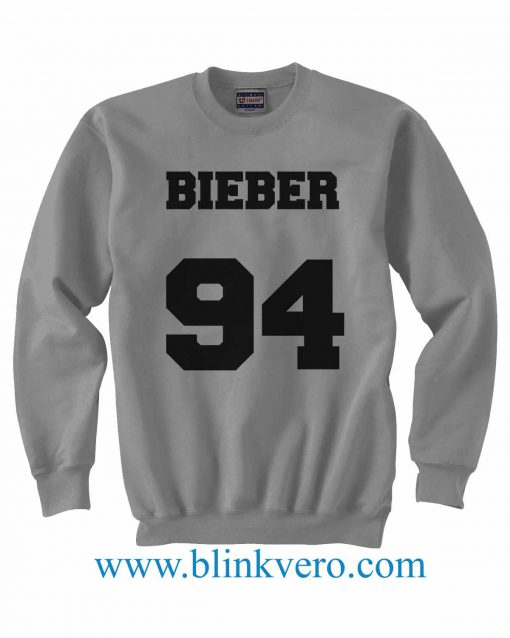 Justin Bieber 94 Jersey Style gray