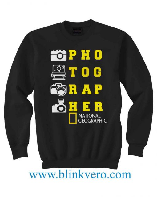 National Geographic Photograher Jersey Life Style Girls and Mens Sweatshirt size S to XXXL Unisex Adult