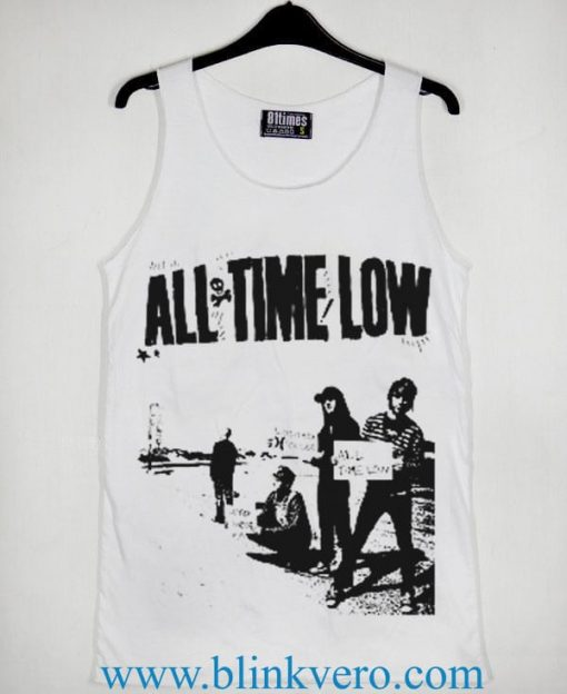 All time Low Band Unisex Tank Top Available Size S M L XL XXL XXXL For Men and Women Adult