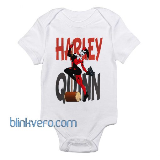 Harley Quinn Pinup Awesome Funny Baby Onesie Boy or Girl, Available Sizes Newborn to 24 Months