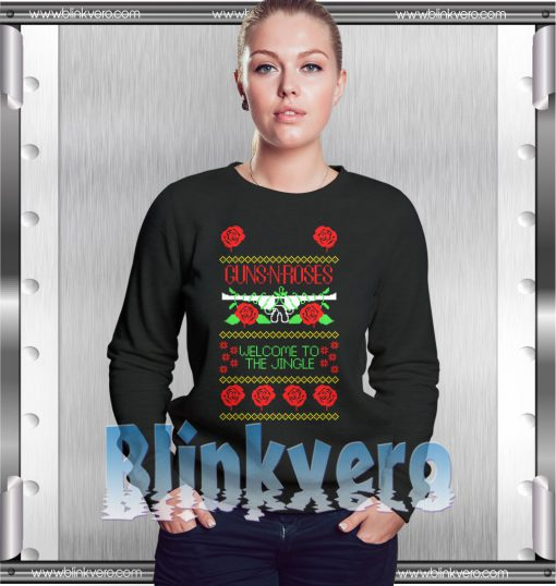 Guns n roses welcome to the jingle ugly christmas sweater t shirt