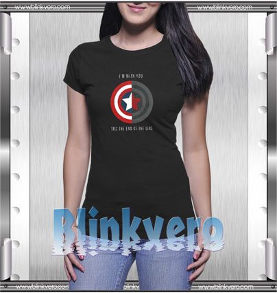 Captain america i'm with you Style Shirts T shirt For Womens Size S 3XL Unisex Shirt