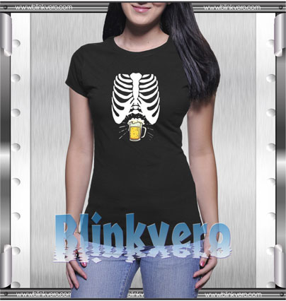 Skeleton Beer Belly Style Shirt T shirt
