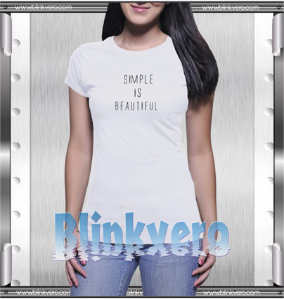 Simple Is Beautiful Style Shirt T shirt