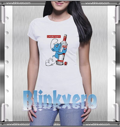 Smurfnoff Style Shirts T shirt For Womens Size S 3XL Unisex Shirt