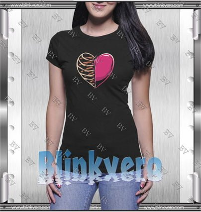 Heart And Skeleton Style Shirt T shirt