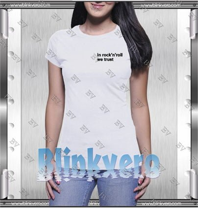 In Rock'n'roll We Trust Style Shirt T shirt