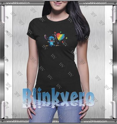 Stitch Plays With Paints Style Shirt T shirt