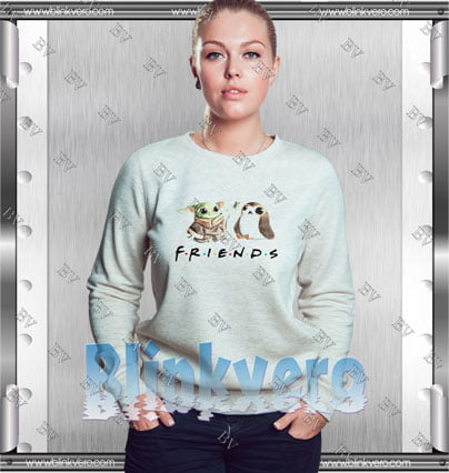 Funny Baby Yoda Frog And Penguin Friends Style Shirts Sweatshirt