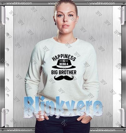 Happiness Is Being A Big Brother Style Shirts Sweatshirt