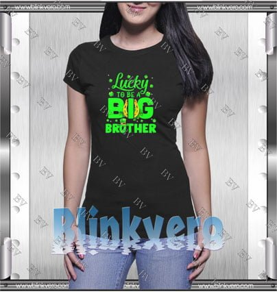 Lucky To Be A Big Brother Style Shirt T shirt