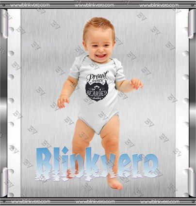 Proud Owner of a Bearded Dad Style Shirts Infant Short Sleeve Bodysuit