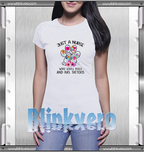 Who Loves Dogs And Has Tattoos T-Shirt