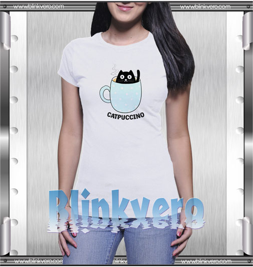 Catpuccino Funny Cat T-Shirt