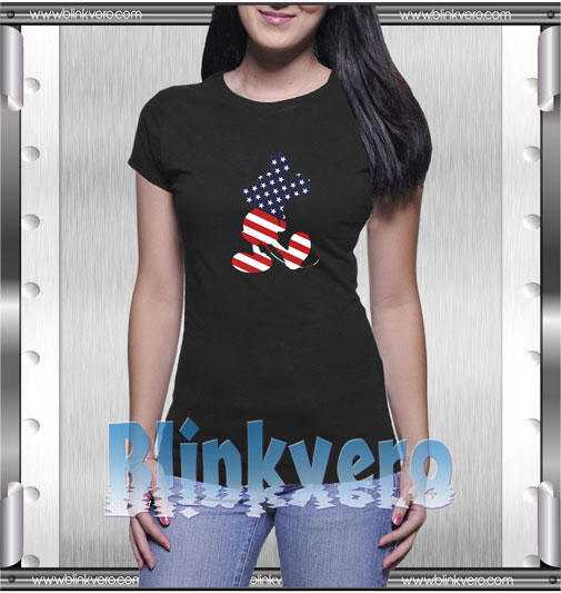 Mickey Mouse American Flag T-Shirt
