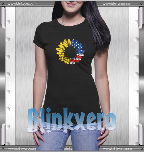4th of July Sunflower T-Shirt