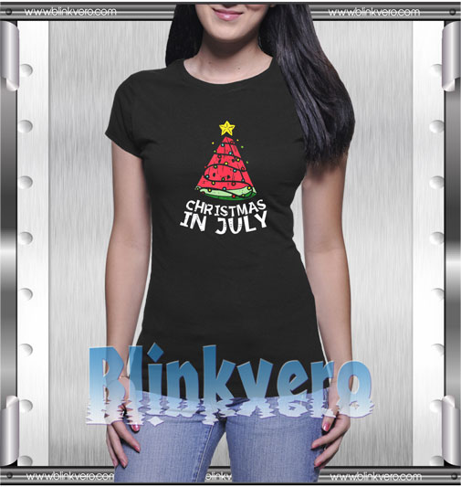Christmas In July Watermelon T-Shirt