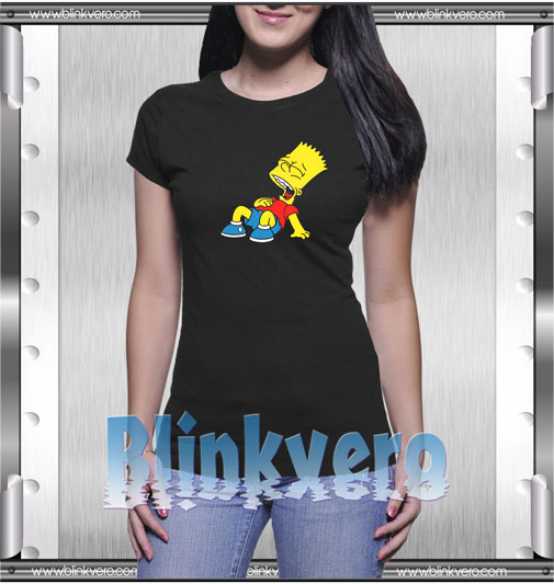 Laughing Out Loud Bart Simpson T-Shirt